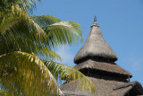 Thatched roof of the lobby, Shandrani Hotel
