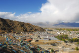 View of the area of Shigatse north of the castle