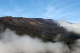 The helicopter didn't climb much above 6000 ft so we were well below the summit of Haleakala