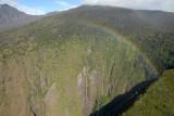 Rainbow over Manawainui Valley on the southeast flank of Mt Haleakala