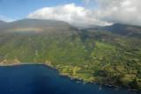 A rainbow with the southeast coast of Maui