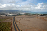 Crossing the Mokulele Highway on final approach to Kahului Airport