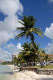 Narrow beach in front of Fiesta Resort, Tumon