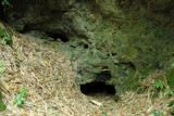 Blocked cave entrance
