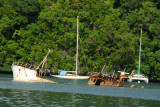 Wreck of a Taiwanese foreign fishing vessel impounded for illegal fishing in Palauan waters
