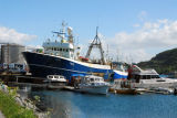 Norwegian fishing vessel, the Varik, at Ålesund, a major fishing port