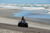 Quadbike on the beach, Hokitika