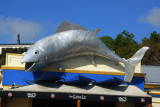 Giant fish at the Sonic in downtown Kaikoura
