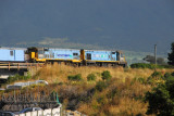 Trans Scenic Railroad passing through Kaikoura
