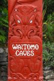 Maori post, Waitomo Caves