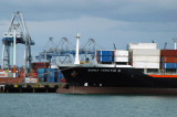 Container ship Bunga Teratai 3, Port of Auckland