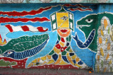 The next series are murals from the wall on the west side of Kazi Nazul Islam Ave between the National Museum and TSC Circle