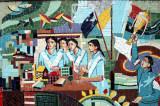 Mosaic of athletic achievment and community, Viqarunnisa Noon School