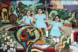 Mosaic of Viqarunnisa Noon School students at play