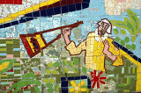 I find that mosaic art has improved significantly in Bangladesh since 1958