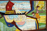 Abstract mosaic on the wall to the Shugandha State Guesthouse, Dhaka 53