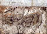 Relief carving on the Martyr's Monument in front of Kamalapur Station, Dhaka