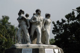 Anti-Terrorism Memorial Sculpture, TSC Circle, in memory of Moin Hossain Raju (Raju Vashkorjo)