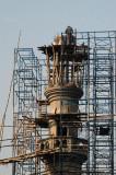 Minaret under construction along Topkhana Road