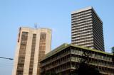 Sena Kalyan Bhaban Building (1990) and Bangladesh Bank (1985), Dhaka-Motijeel