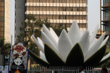 Giant water lilly sculpture, national flower of Bangladesh, Shapla Chottor, Dhaka-Motijeel