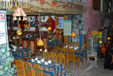 One of the many restaurants along Aguas Calientes main thoroughfare