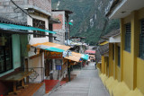 Early morning along Aguas Calientes main drag