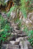 Rough stairs leading up Wayna Picchu
