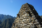 Peaked wall of a roofless building, Machu Picchu