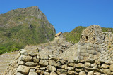 Looking up to the Hut of the Caretaker, Machu Picchu