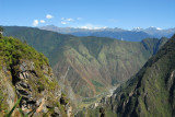 Mountain and valley view from Machu Picchu