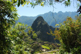 Machu Picchu from Inca Bridge trail
