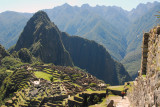 Machu Picchu from upper terraces with Wayna Picchu