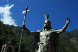Pachacutec, the 9th Inca (1438-1472) on the Plaza of Aguas Calientes