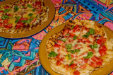 grilled pizzas margherita