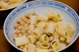 rigatoni with garbanzo beans and rosemary
