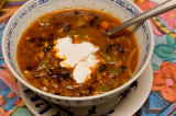 chili with yogurt