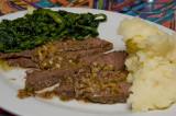 beef pot roast with broccoli rapini and mashies