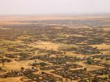 El-Fasher suburbia with camps in the background