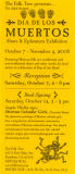 Folk Tree dia de los muertos Show October 7, 2-6