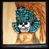 Aztec with Tourqois Skull Headdress