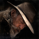 Candid of man in akubra hat