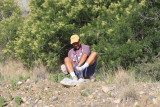 Jim Brock after finding the Soapberry Hairstreak.