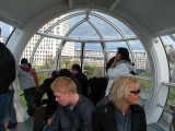 In the London Eye.