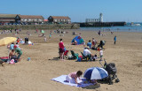 At the beach in Scarborough.