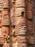 Close up of Stonework Holy Island Priory.