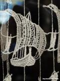 Le Faou - detail van het gehaakte gordijn