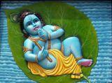 Alelai Krishna on Entrance wall