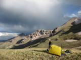 Campsite above Lost Trail Creek Colorado