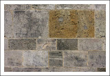 Christchurch Priory Wall ... (in the style of Mondrian?)